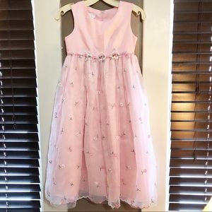 Bonnie Jean Soft Pink Formal Sleeveless Dress Sz 8